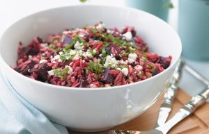 Tasty beetroot and pasta salad