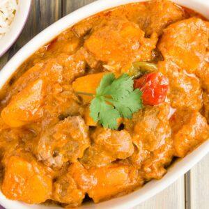 Tasty chicken and pumpkin stew