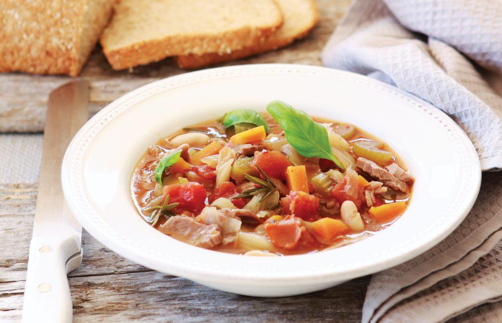 Tasty lamb and bean soup