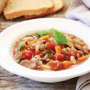 Tasty lamb and bean soup