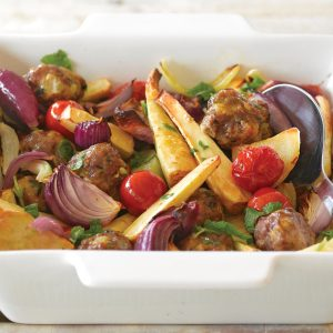 Tasty meatball bake