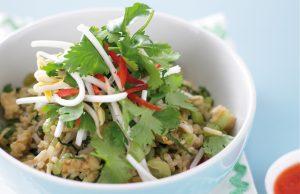 Tasty prawn fried rice