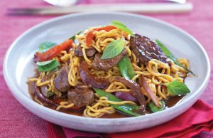 Thai beef, chilli and basil stir-fry