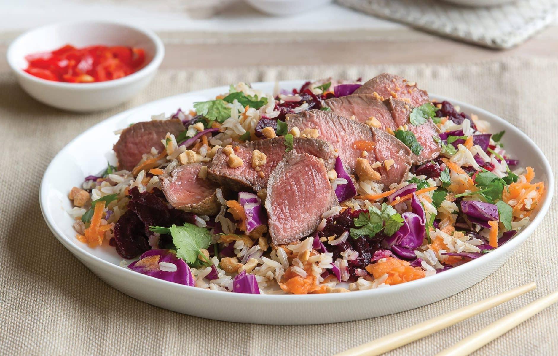Thai beef slaw