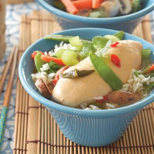 Thai poached chicken