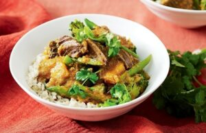 Thai red beef and pumpkin curry