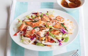 Thai salmon noodle salad