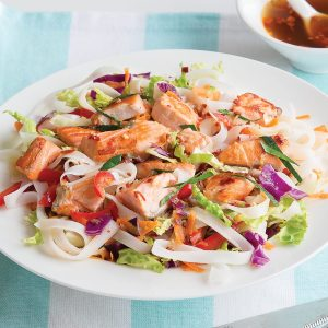 Thai salmon noodle salad
