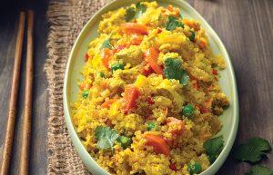 Tofu and quinoa stir-fry
