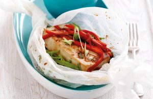Tofu and vegetable parcels