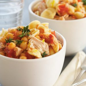 Tuna and chickpea pasta