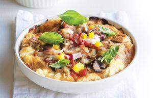 Tuna deep-pan pizza