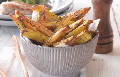 Tuscan-flavoured oven chips
