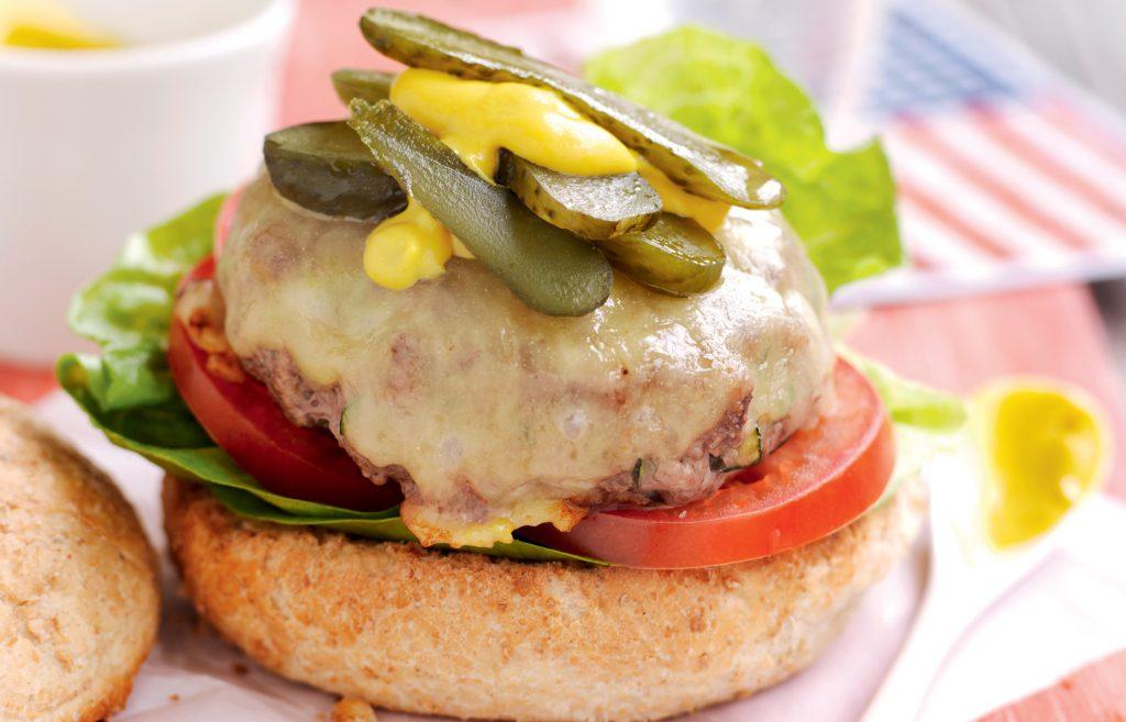 American beef burger