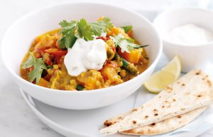 Vegetarian korma curry