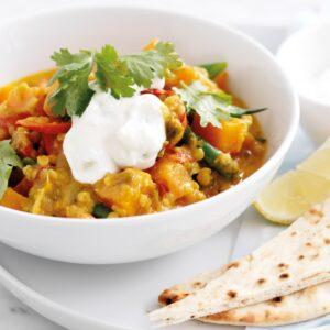 Vegetarian korma curry