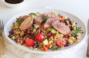Warm lamb couscous salad