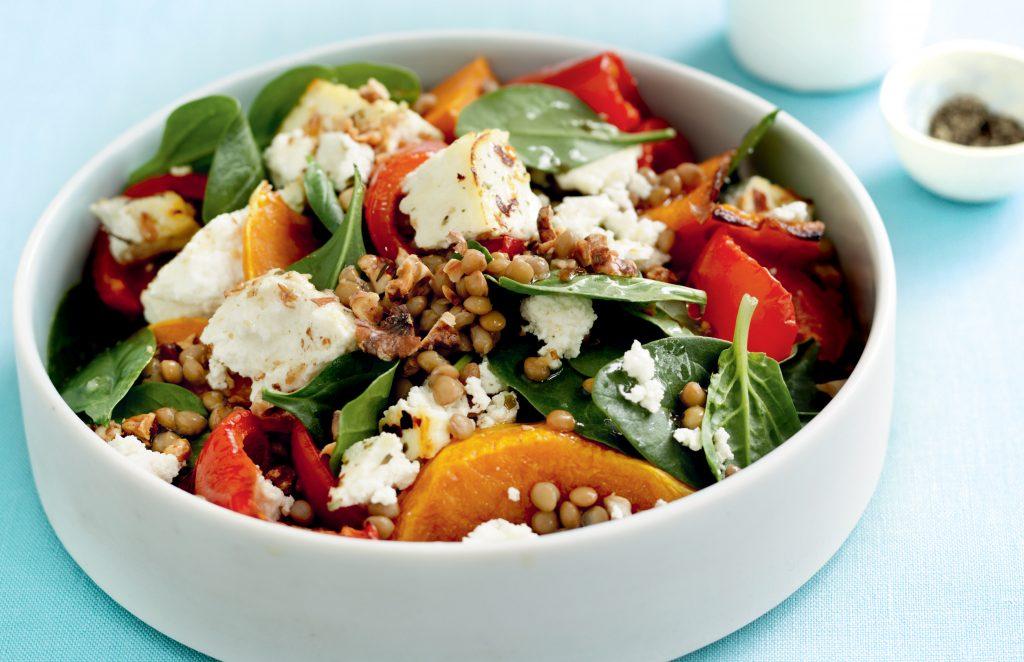 Warm ricotta and roasted pumpkin salad