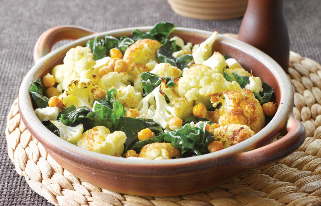 Warm spiced cauliflower salad