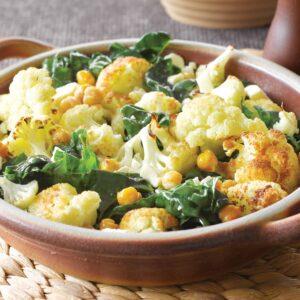 Warm spiced cauliflower salad