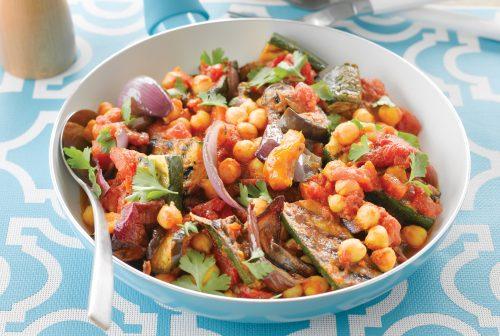 Warm summer vegetable salad