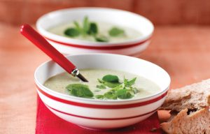 Winter watercress soup