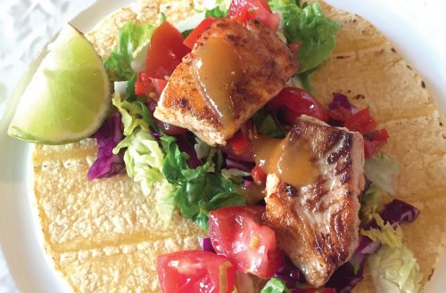 Yummy summery fish tacos