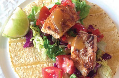 Yummy summery fish tacos