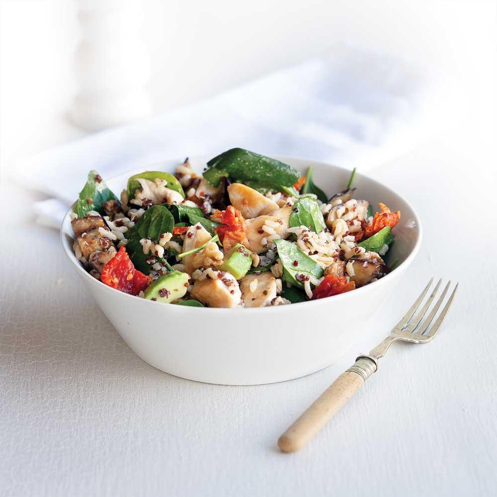 Chicken, rice and quinoa salad