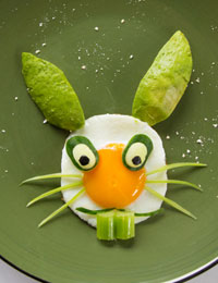 Fried egg bunny