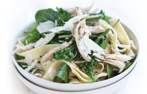 Lemon chicken fettuccine