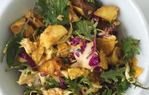 Mexican chicken and roast vege salad