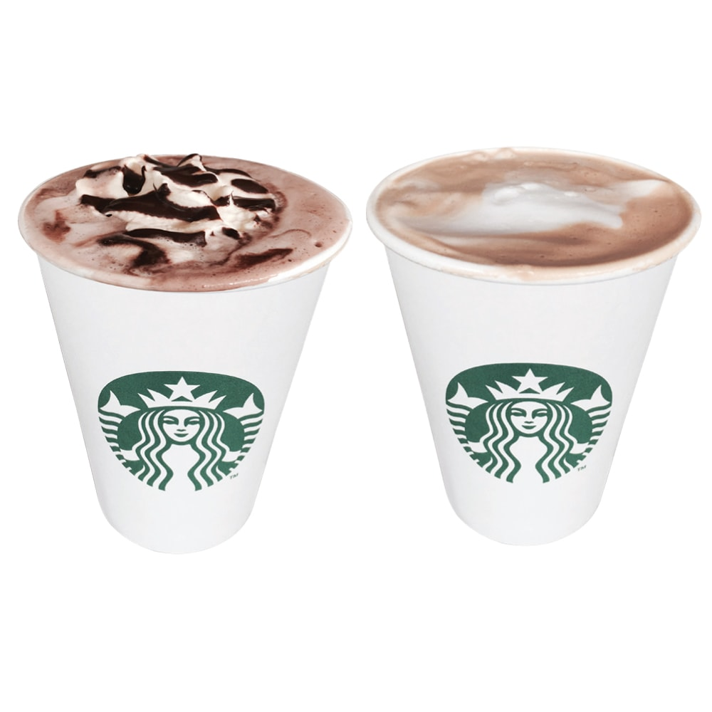 This vs that: Hot chocolate vs caffé latte