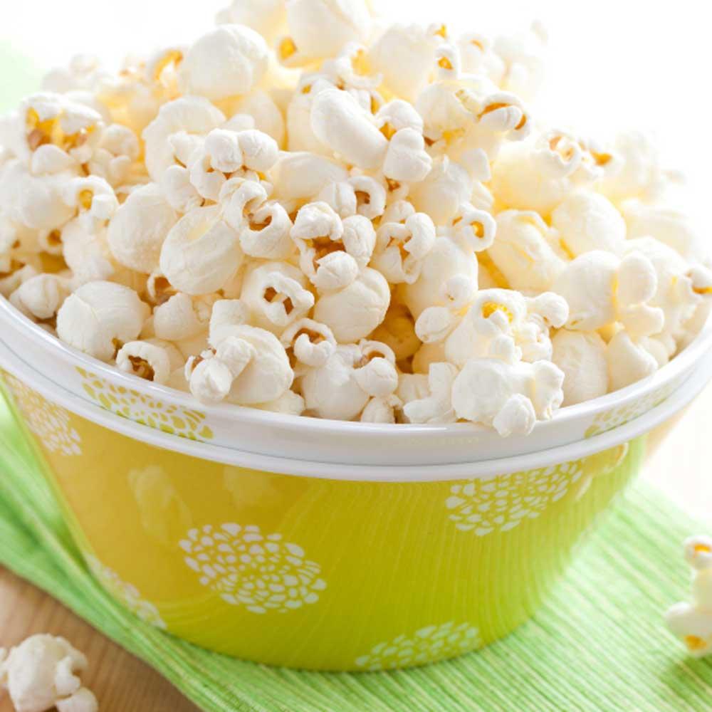 Plain popcorn vs flavoured