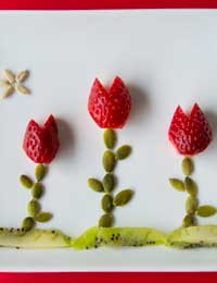 Strawberry tulips