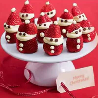 Make your own strawberry santas