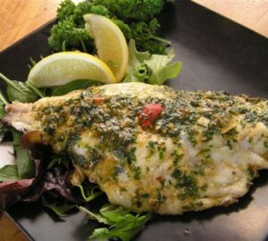 Grilled snapper with chermoula