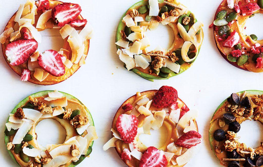 Apple fruit doughnuts
