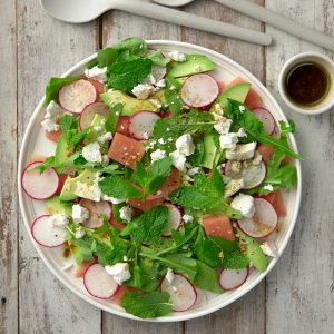 Avocado and watermelon salad