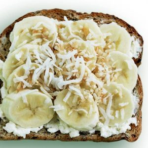 Banana and coconut toast topper