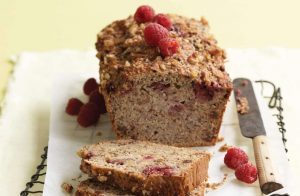 Banana, raspberry and walnut loaf