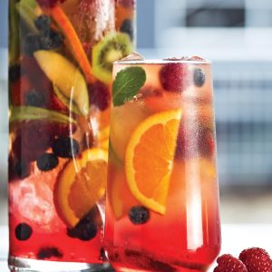 Berry kombucha sangria