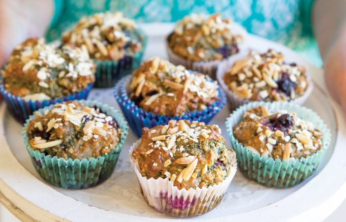 Berry nut chia muffins
