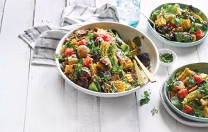 Bubble and squeak with sweetcorn and tuna