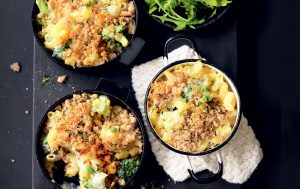 Cauliflower mac 'n' cheese with rye crumbs