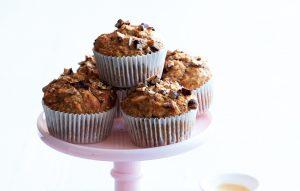 Chai banana pecan muffins