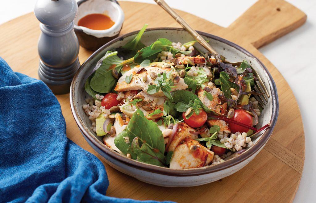 Smoky paprika chicken and avocado salad