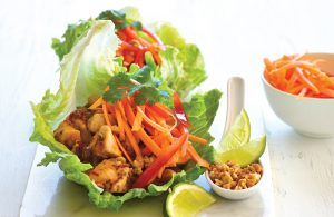 Chicken and chia lettuce cups