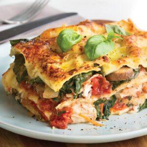 Chicken and mushroom lasagne