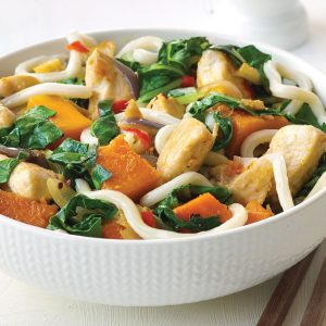Chicken and pumpkin stir-fry